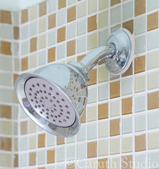 Shower-head-and-glass-tile