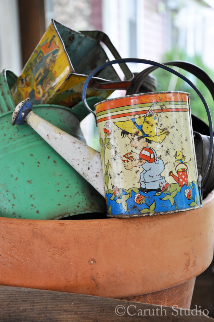 Vintage child's watering can