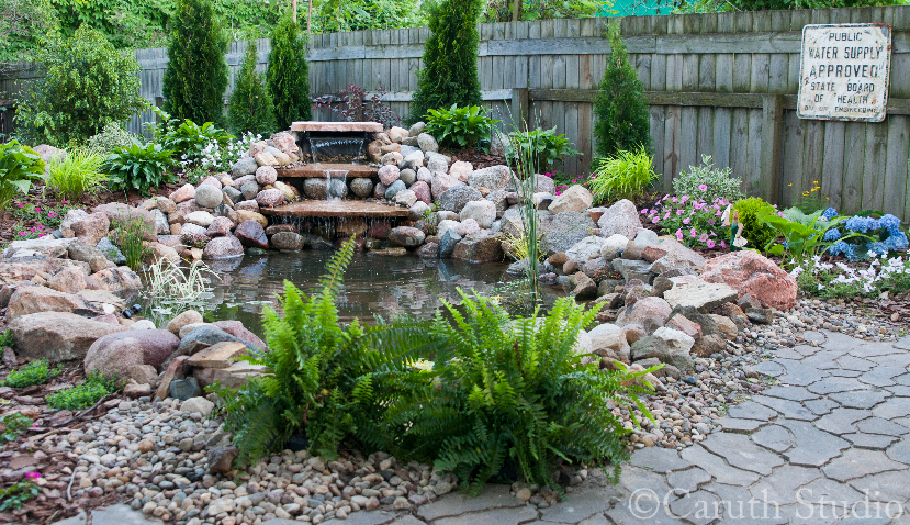 The completed pond