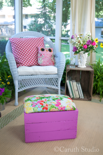 Add softness to porch with textiles
