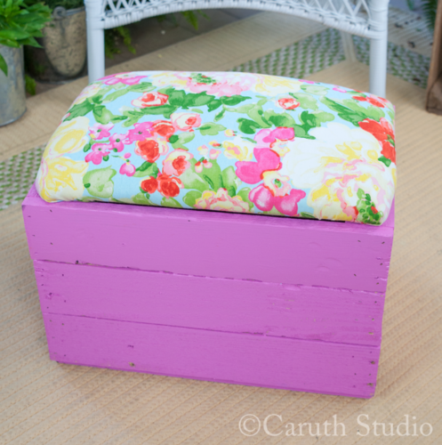Finished footstool
