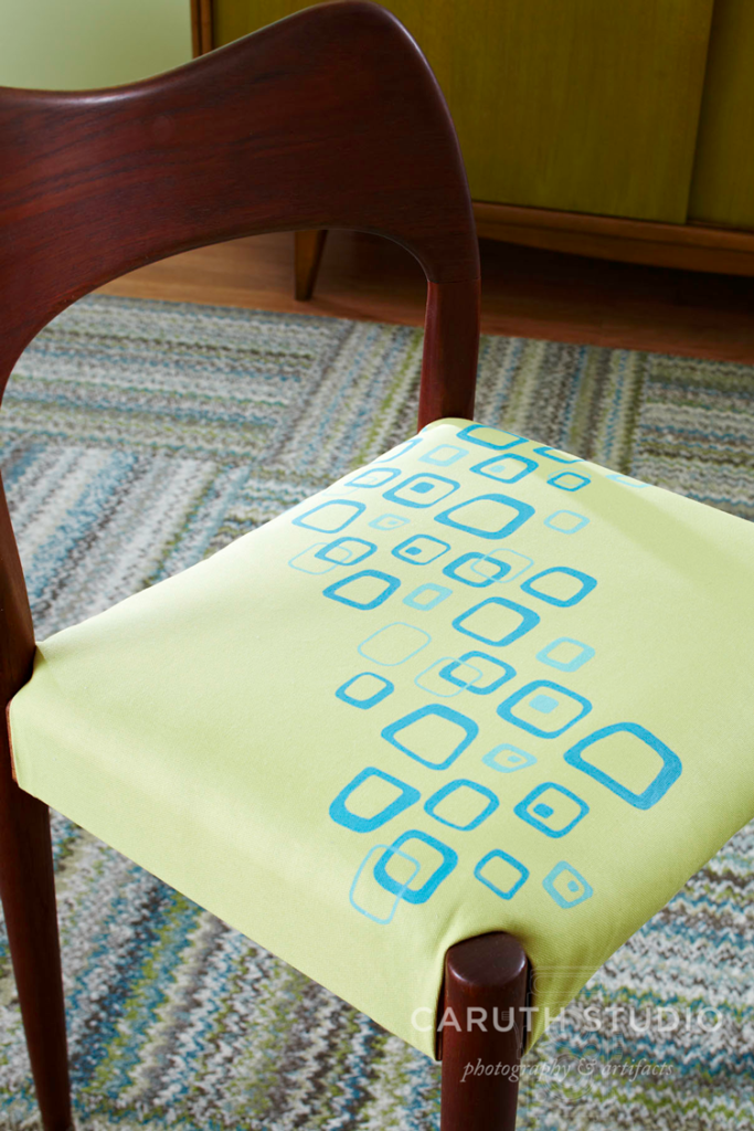 Painted chair upholstery