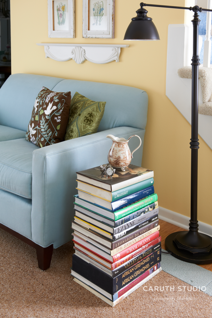 Book stack side table
