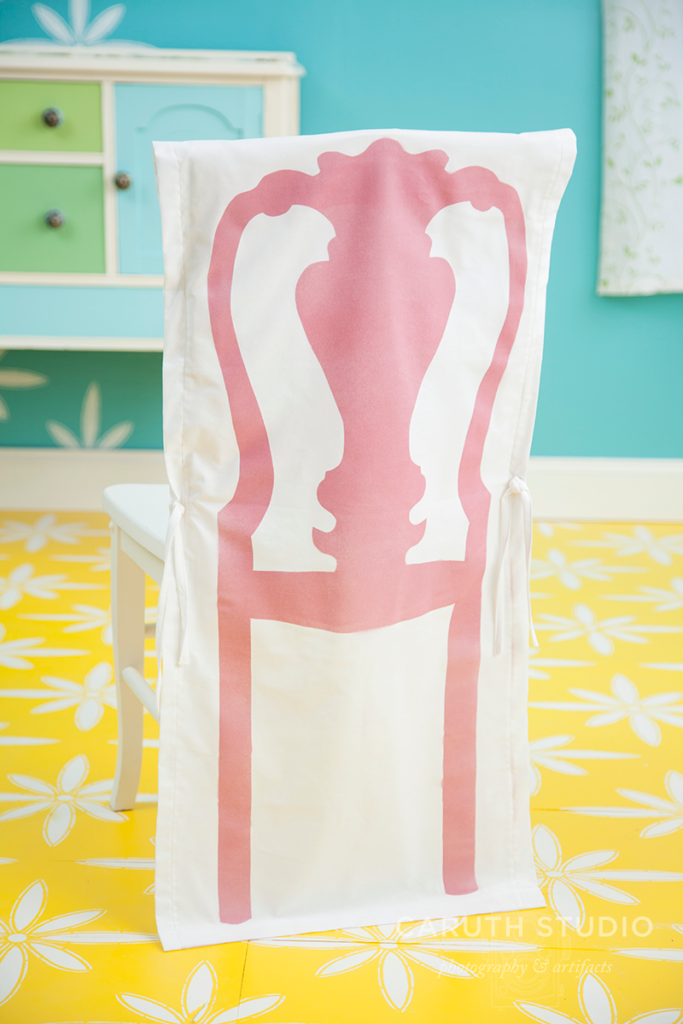 Stenciled chair cover