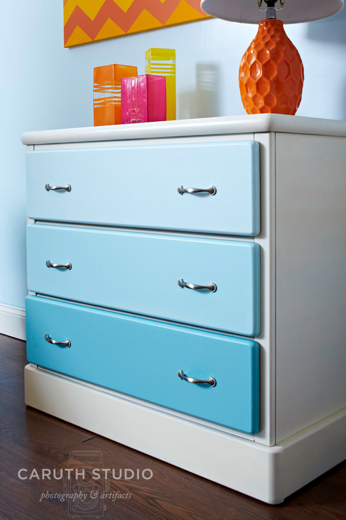Painted ombre chest