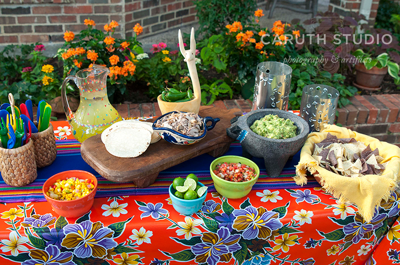 Fiesta tablecloth and runner
