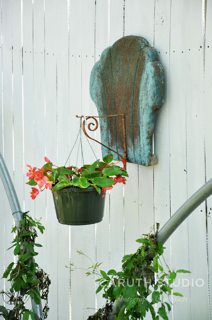 Hanging pot and greenhouse hoops