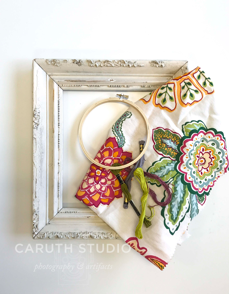 Supplies for embroidered fabric