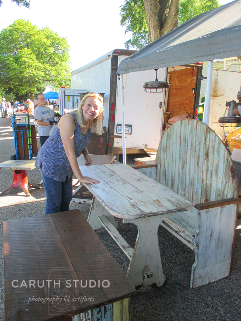 Carla at the Walnut antique show
