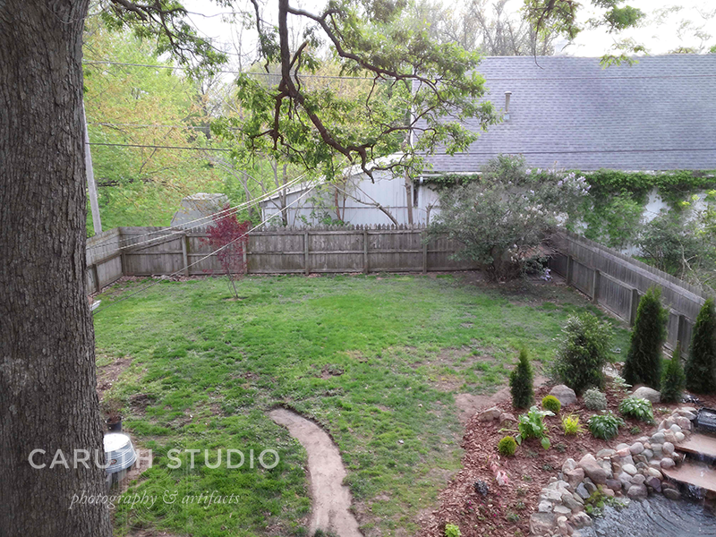 yard birds eye view from before the build