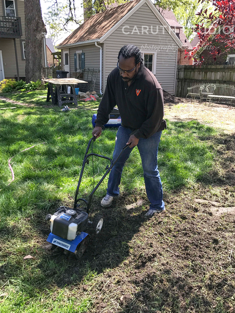 Tilling the ground