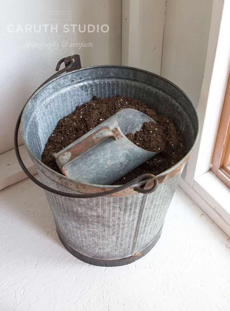 Potting soil bucket