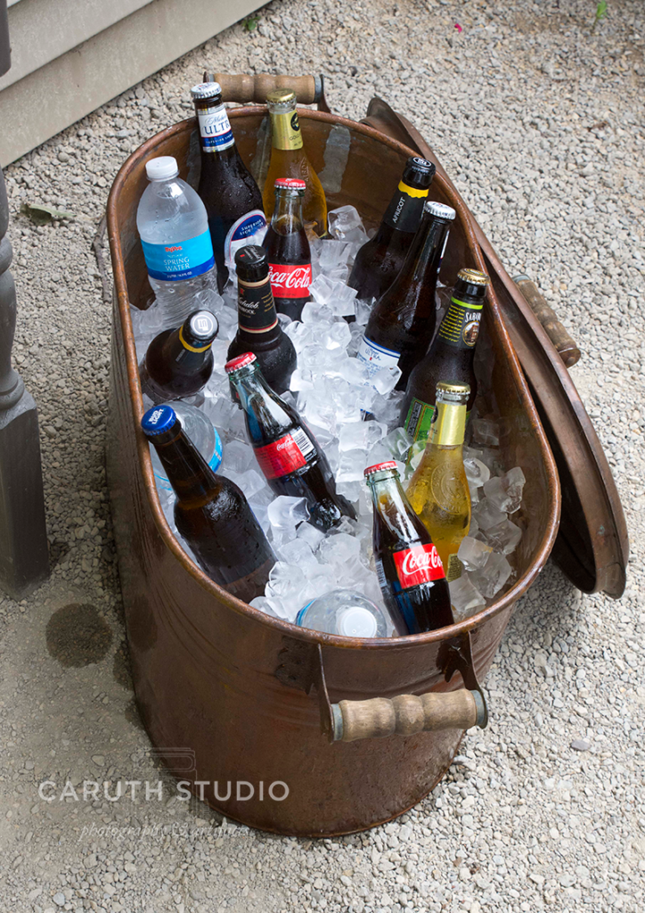 summer patio party drink cooler