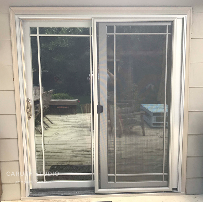 new patio door from the outside looking in