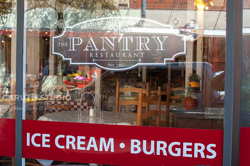 McKinney Ice Cream and Burger joint called the Pantry