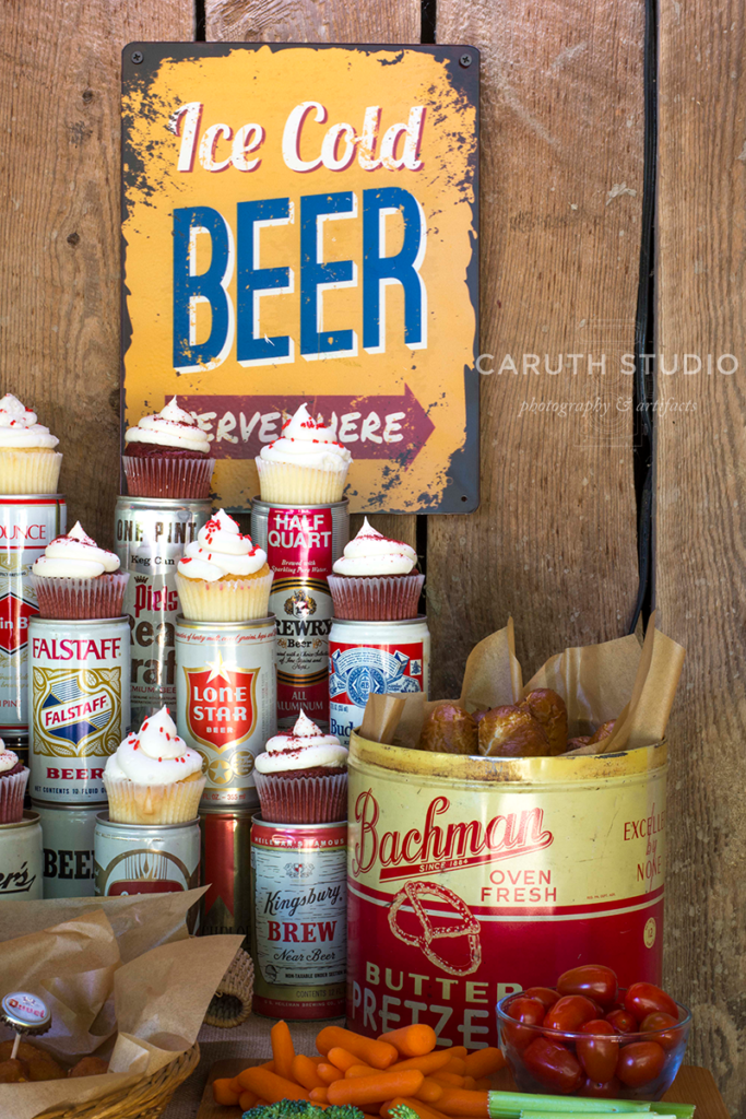 Vintage containers with tasty treats