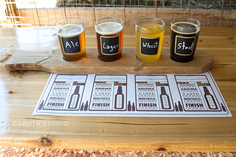 The various categories to rate your beer flights on