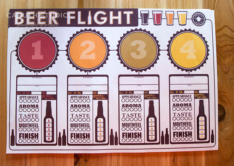 Keep track of your beer flights with this placemat
