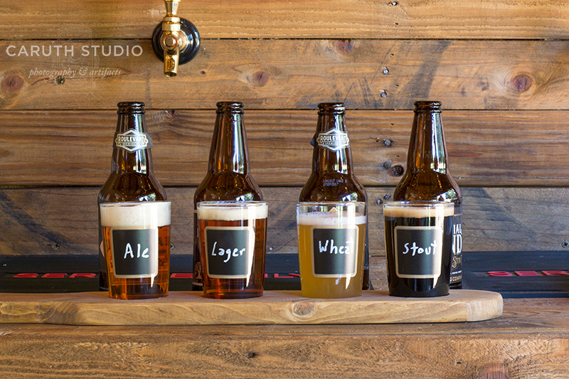 The wide range of flavors of the beer flight