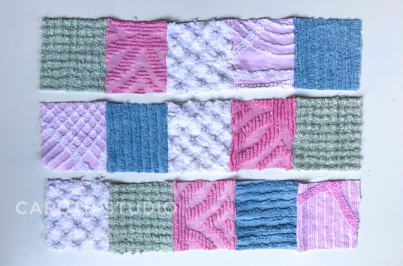 Rows of patchwork squares