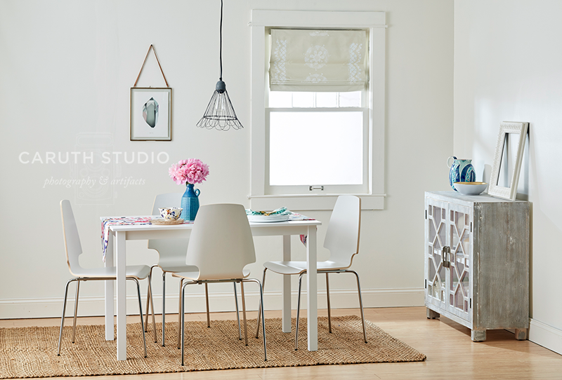 Dining room in neutrals