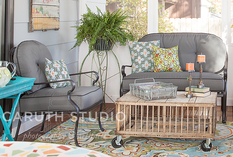 Gray patio furniture