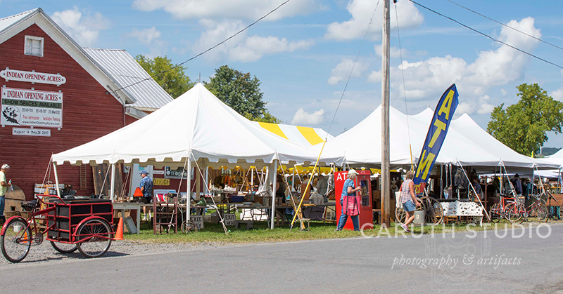 marquee tents at Madison Bouckville Antiques Week