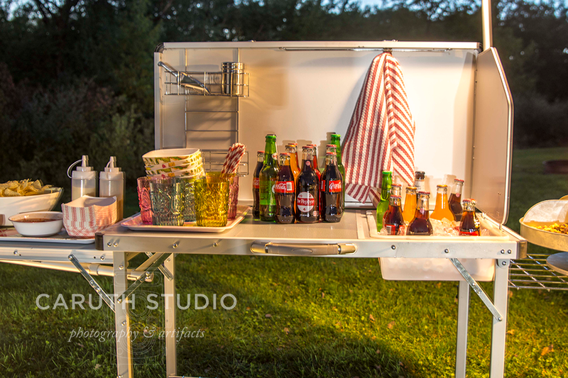 movie night snack table