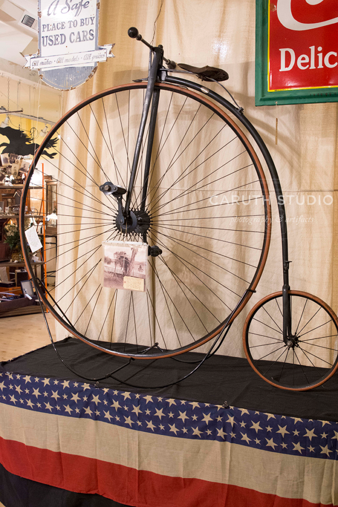 Penny-farthing on display