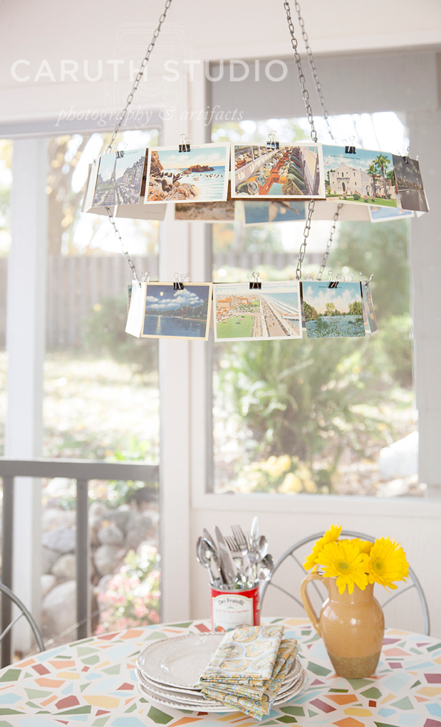 Postcard mobile_light fixture