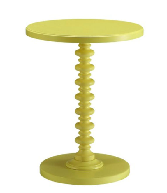 HomeDepot_Palm Beach Yellow Spindle End Table