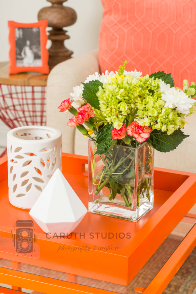 Coral living room coffee tabletop