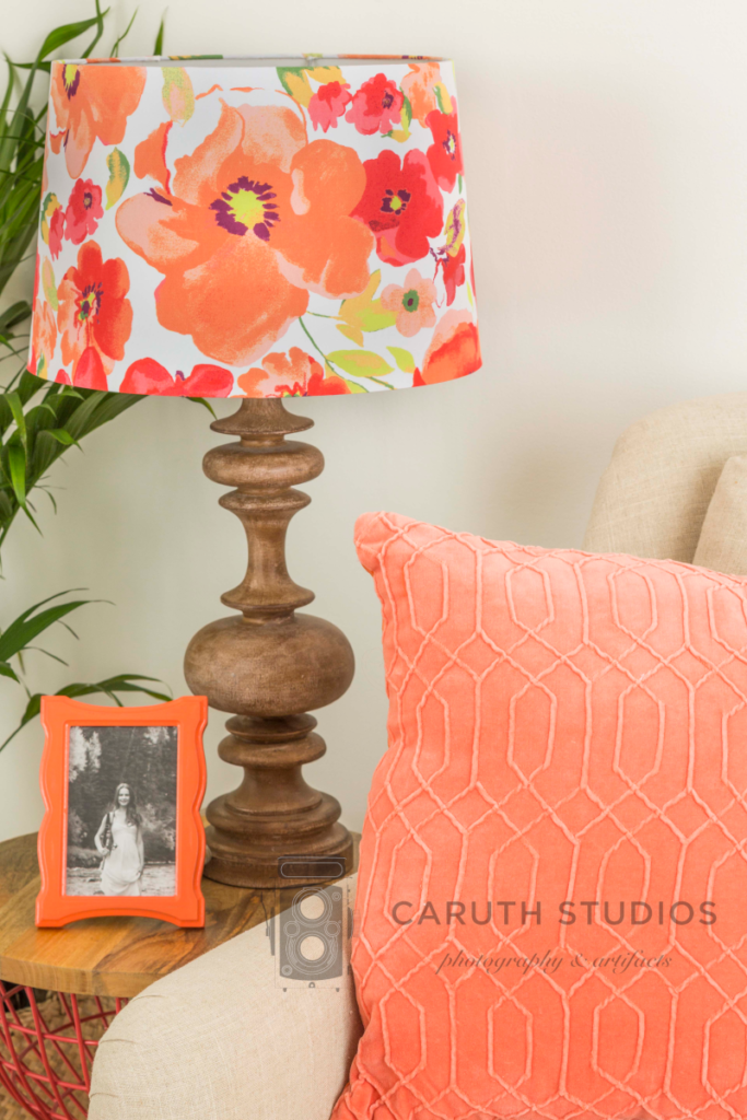 Coral living room lamp